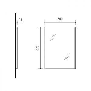 Riva, vonios kambario baldai, veidrodis, SV50V